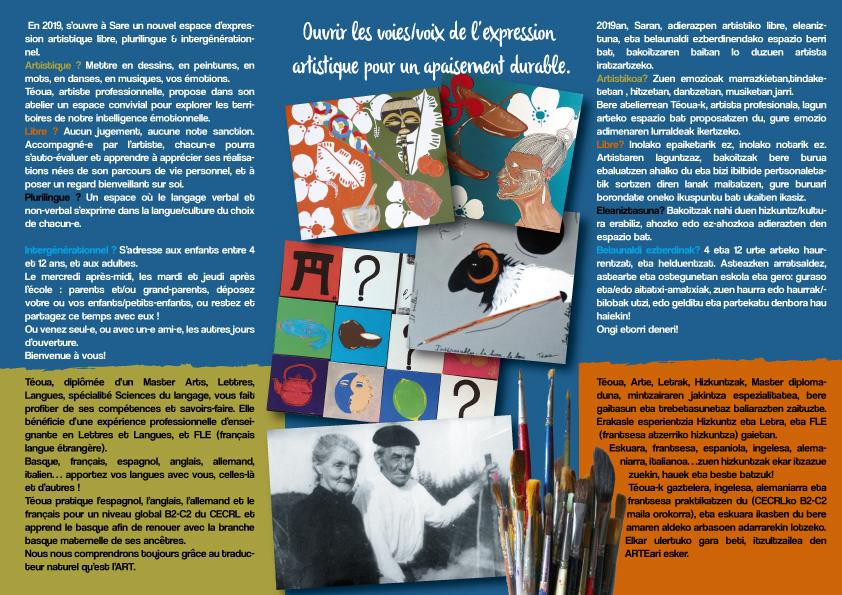 Téoua  Factory, l'atelier d'arts et la galerie, à Sare, ça y est ! L'univers de Téoua vous est ouvert!