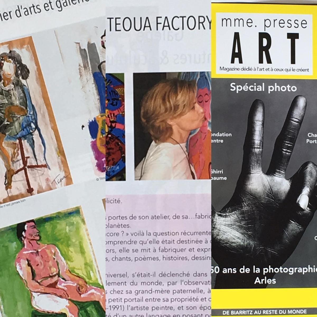 Téoua dans Madame Presse Art: magazine dédié à l'art et ceux qui lecréent.
