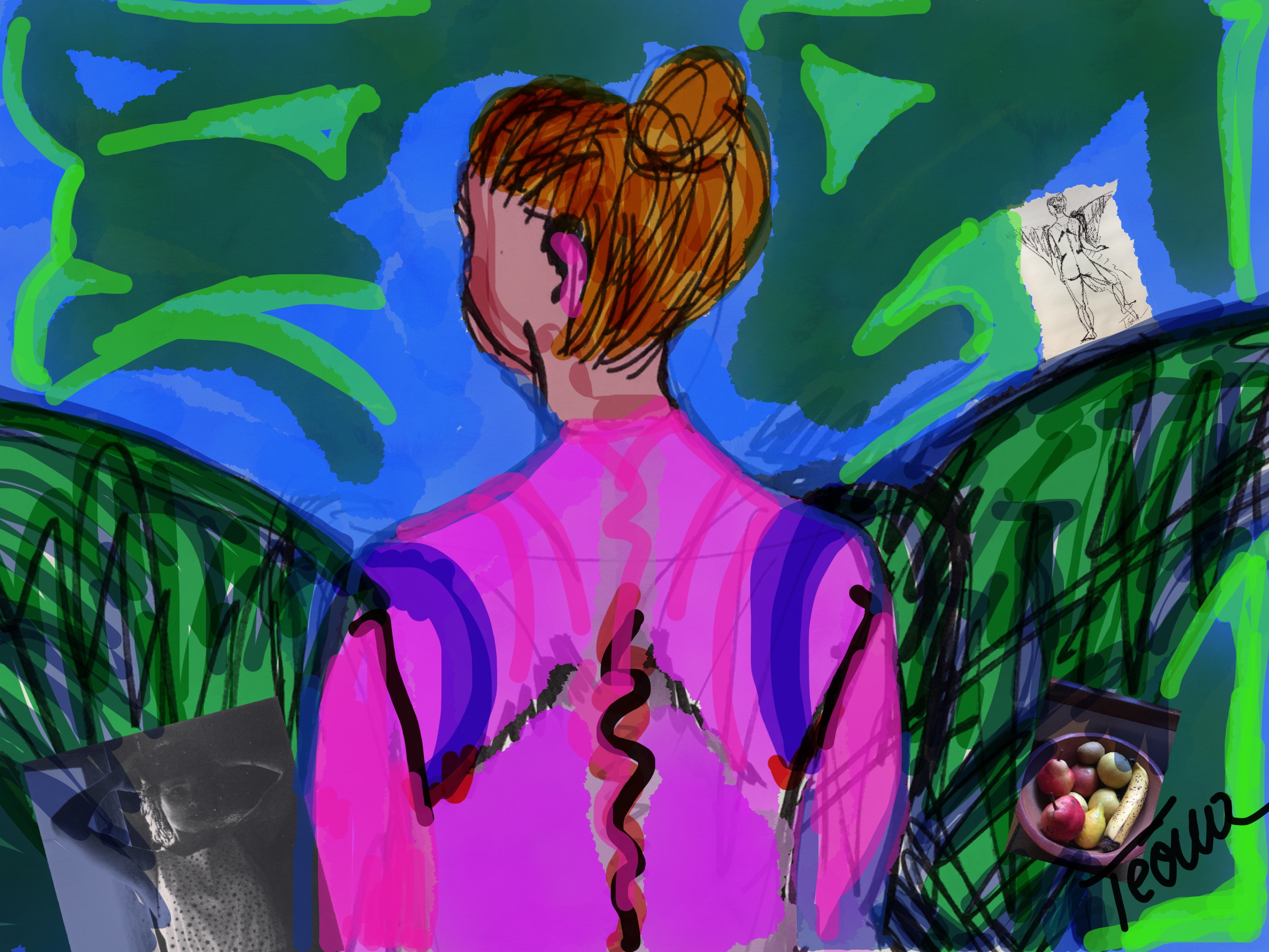 Téoua, l'artiste auteure/artista.
